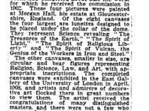 """New York Times, New York, NY, """"Edwin A. Abbey, painter, dies at 59 [obituary]"""", August 2, 1911, not illustrated."""