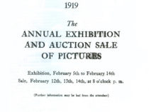 """""""Annual exhibition and auction sale of pictures"""", February 5-14, auction sale February 12-14, 1919."""
