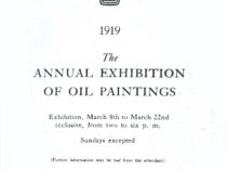 """""""Annual exhibition of oil paintings"""", March 8-22, 1919."""