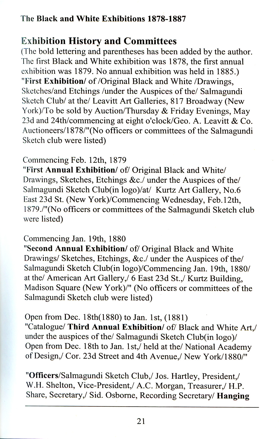 Salmagundi Club painting exhibitions records 1889 to 1939 : a guide to the annual exhibition of oil paintings and the annual exhibition and auction sale of pictures