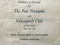 Exhibition of paintings by the past presidents of the Salmagundi Club
